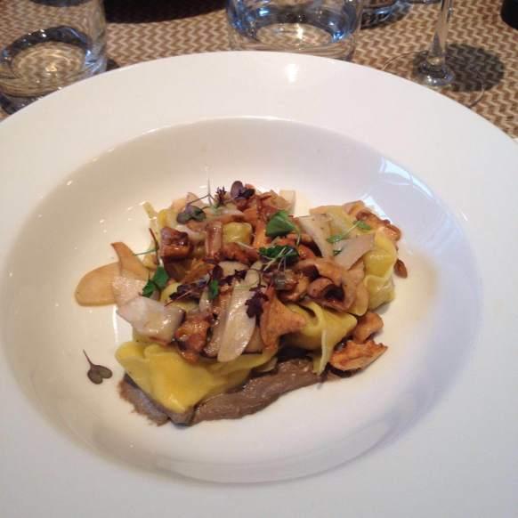 Cep tortellini, sautéed wild mushrooms, chestnut & sage butter