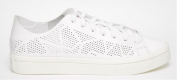 Adidas Originals Court Vantage White Perforated Trainers £85