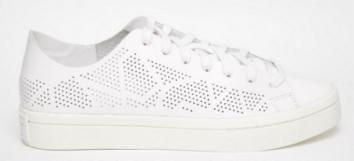 Adidas Originals Court Vantage White Perforated Trainers £85