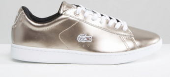 Lacoste Carnaby Evo Rose Gold Trainers £70
